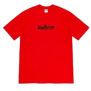 SUPREME STAY POSITIVE RED TEE SIZE M